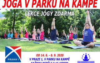 Lekce jógy zdarma - Kampa Park